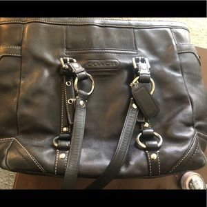 Coach leather tote purse